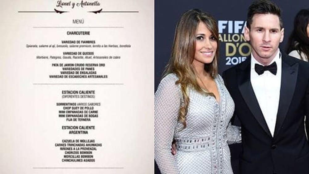 Matrimonio Messi : Matrimonio messi invitati e menù da capogiro