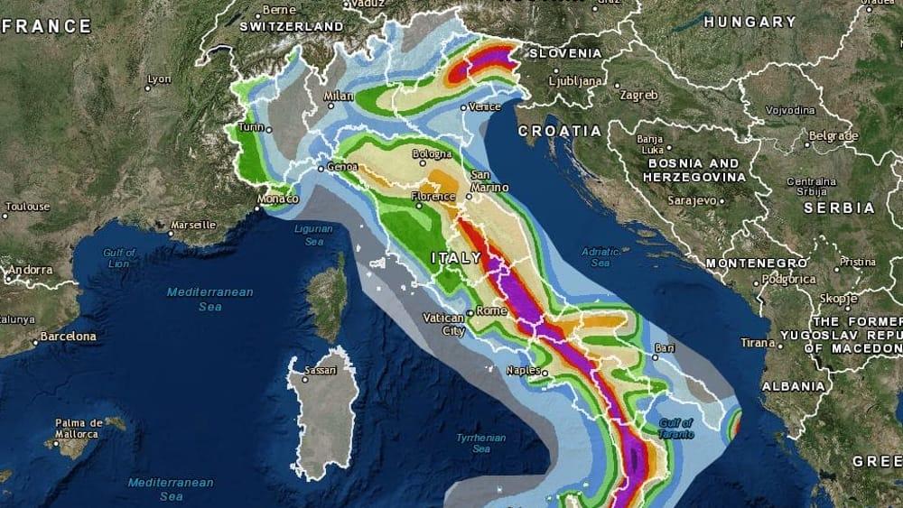 Cartina Italia Rischio Sismico.Mappa Del Rischio Sismico In Italia Dove E Come Costruire