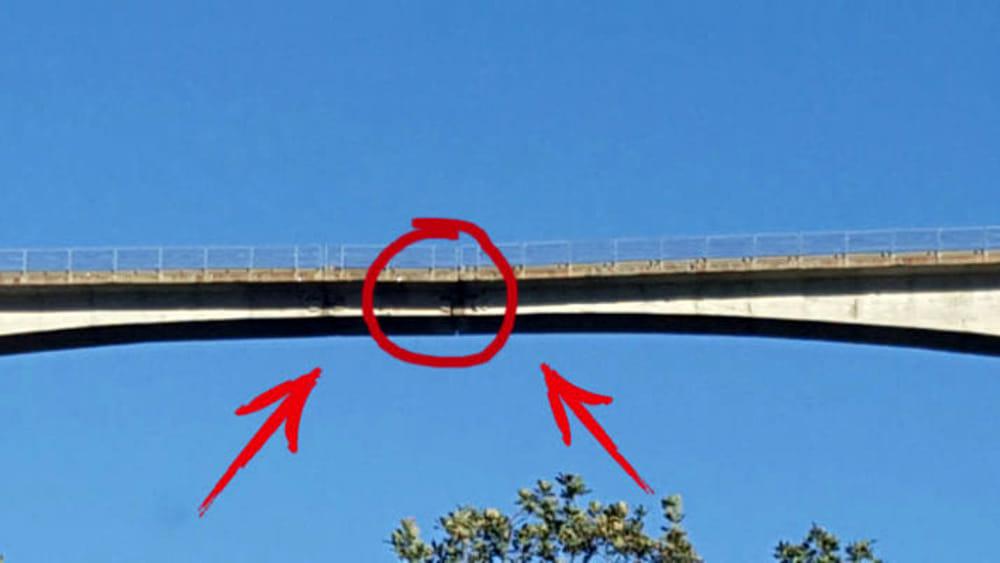 Ponte di celico l 39 allarme e il video su facebook sta for Ponte intorno alla casa