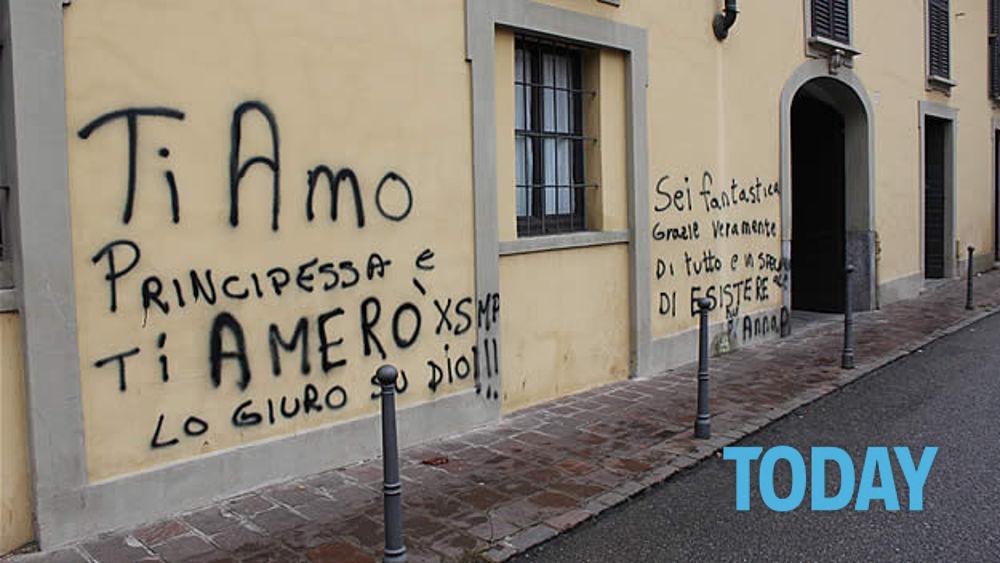 Bologna frasi amore sui muri denunciato - Frasi scritte sui muri di casa ...