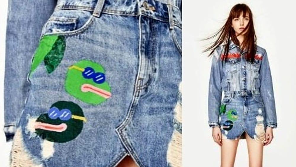 1d6042bbe9 Zara, la gonna di jeans ritirata dai negozi: il disegno ricorda un ...