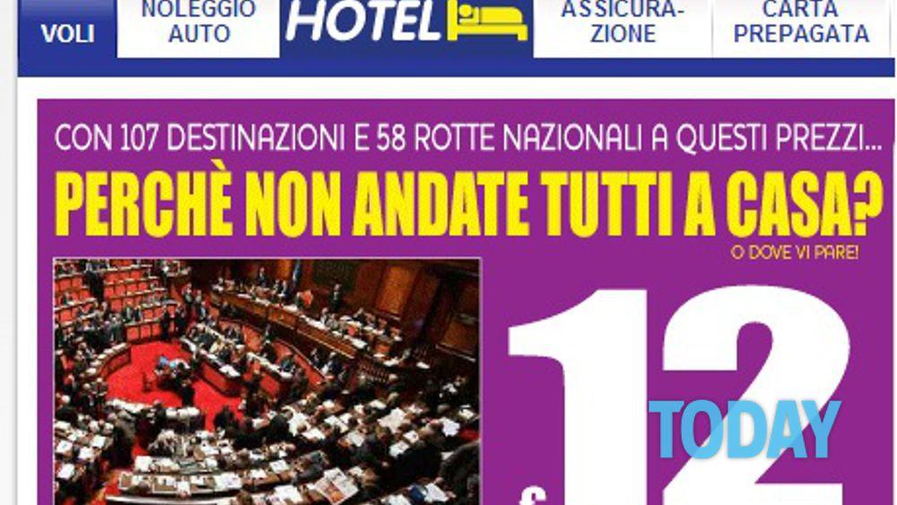 Ryanair contro i politici italiani perch non andate for Tutti i politici italiani